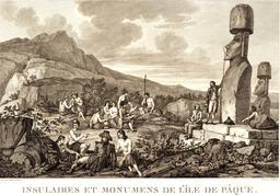Monuments de l'île de Pâques en 1787. Source : http://data.abuledu.org/URI/59907e88-monuments-de-l-ile-de-paques-en-1787