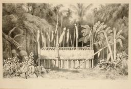 Moraï polynésien en 1838. Source : http://data.abuledu.org/URI/59807da5-morai-polynesien-en-1838