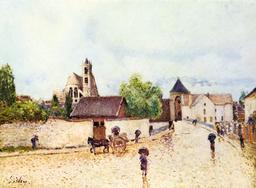Moret-sur-Loing sous la pluie. Source : http://data.abuledu.org/URI/539f4c97-moret-sur-loing-sous-la-pluie