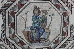 Mosaïque d'Orphée. Source : http://data.abuledu.org/URI/59079462-mosaique-d-orphee