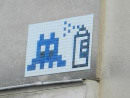 Mosaïque de Space Invader à Paris. Source : http://data.abuledu.org/URI/52c200ac-mosaique-de-space-invader-a-paris