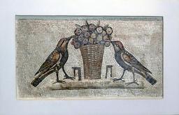 Mosaïque des oiseaux de Sousse. Source : http://data.abuledu.org/URI/526bd4c9-mosaique-des-oiseaux-de-sousse