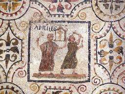 Mosaïque du mois d'avril. Source : http://data.abuledu.org/URI/5325e8e0-mosaique-du-mois-d-avril