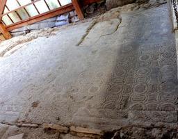 Mosaïque gallo-romaine de Loupiac-33. Source : http://data.abuledu.org/URI/599aa826-mosaique-gallo-romaine-de-loupiac-33