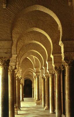 Mosquée de Kairouan. Source : http://data.abuledu.org/URI/50814b33-mosquee-de-kairouan