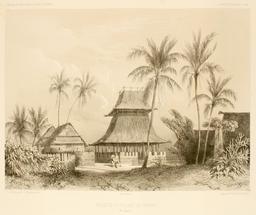 Mosquée de Warrou dans les Moluques en 1838. Source : http://data.abuledu.org/URI/59816787-mosquee-de-warrou-dans-les-moluques-en-1838