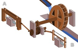 Moulin à eau romain. Source : http://data.abuledu.org/URI/51acb728-moulin-a-eau-romain