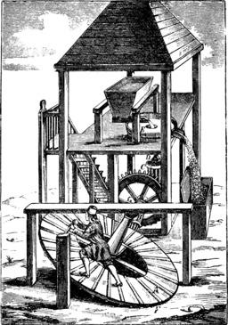 Moulin à tapis roulant. Source : http://data.abuledu.org/URI/53e91879-moulin-a-tapis-roulant