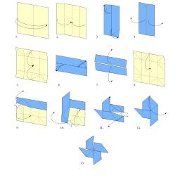 Moulin à vent en origami. Source : http://data.abuledu.org/URI/52f2726a-moulin-a-vent-en-origami