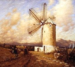 Moulin en Espagne. Source : http://data.abuledu.org/URI/47f4bec3-moulin-en-espagne