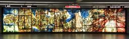 Murale en verre sur l'histoire de la musique. Source : http://data.abuledu.org/URI/597805e9-murale-en-verre-sur-l-histoire-de-la-musique