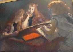 Portrait des filles de Gallé. Source : http://data.abuledu.org/URI/5818ceb3-musee-de-l-ecole-de-nancy