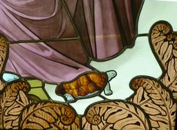 Vitrail de la lecture. Source : http://data.abuledu.org/URI/5818d0c1-musee-de-l-ecole-de-nancy