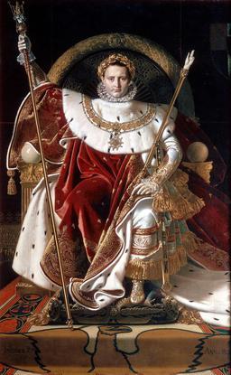 Napoléon Ier sur le trône impérial. Source : http://data.abuledu.org/URI/536d1640-napoleon-ier-sur-le-trone-imperial