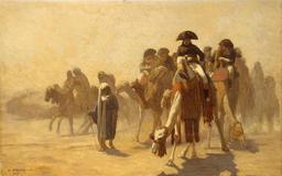 Napoléon pendant la campagne d'Égypte. Source : http://data.abuledu.org/URI/58f3d7db-napoleon-pendant-la-campagne-d-egypte