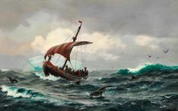 Navire viking au Groenland en l'an 1000. Source : http://data.abuledu.org/URI/56570d0c-navire-viking-au-groenland-en-l-an-1000