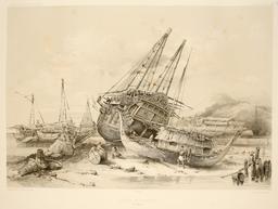 Navires malais en 1838. Source : http://data.abuledu.org/URI/59815a8d-navires-malais-en-1838