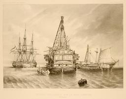 Navires malais sur la rade d'Amboine dans les Moluques en 1838. Source : http://data.abuledu.org/URI/59815841-navires-malais-sur-la-rade-d-amboine-dans-les-moluques-en-1838