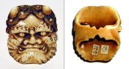 Netsuke japonais en forme de masque. Source : http://data.abuledu.org/URI/522ee091-netsuke-japonais-en-forme-de-masque