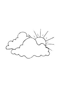 Nuages et soleil. Source : http://data.abuledu.org/URI/5026e2dc-nuages-et-soleil