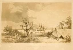 Observatoire de la baie Raffles en Australie en 1838. Source : http://data.abuledu.org/URI/59816264-observatoire-de-la-baie-raffles-en-australie-en-1838