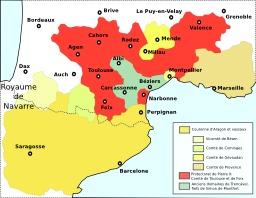 Occitanie et Aragon en 1213. Source : http://data.abuledu.org/URI/51d0a361-occitanie-et-aragon-en-1213