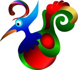 Oiseau fantaisie multicolore. Source : http://data.abuledu.org/URI/54067d39-oiseau-fantaisie-multicolore