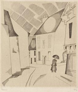 Orage dans la rue en 1922. Source : http://data.abuledu.org/URI/555854c3-orage-dans-la-rue-en-1922