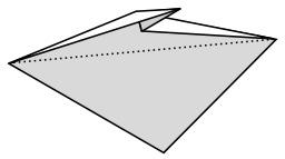 Oreille de lapin en origami. Source : http://data.abuledu.org/URI/518fecd1-oreille-de-lapin-en-origami