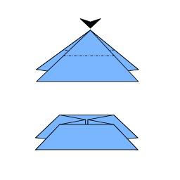 Ouverture de bombe à eau en origami. Source : http://data.abuledu.org/URI/518ff4b4-ouverture-de-bombe-a-eau-en-origami