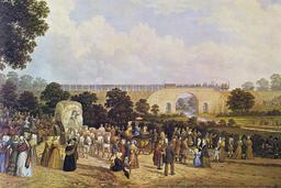 Ouverture de la ligne Stockton Darlington en 1825. Source : http://data.abuledu.org/URI/56573bc7-ouverture-de-la-ligne-stockton-darlington-en-1825