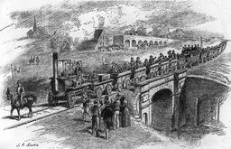 Ouverture de la ligne Stockton & Darlington en 1888. Source : http://data.abuledu.org/URI/56573b1f-ouverture-de-la-ligne-stockton-darlington-en-1888