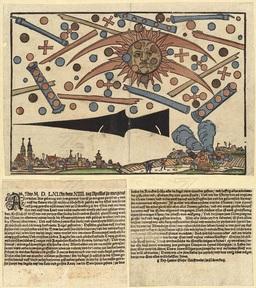 Ovnis dans le ciel de Nuremberg en 1561. Source : http://data.abuledu.org/URI/529e60bb-ovnis-dans-le-ciel-de-nuremberg-en-1561