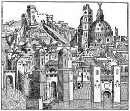 Padoue au XVème siècle. Source : http://data.abuledu.org/URI/56c31a97-padoue-au-xveme-siecle