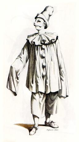 Pagliaccio, le clown Paillasse en 1600. Source : http://data.abuledu.org/URI/51c15876-pagliaccio-le-clown-paillasse-en-1600