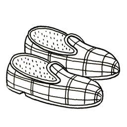 Paire de pantoufles. Source : http://data.abuledu.org/URI/52d7cc3a-paire-de-pantoufles