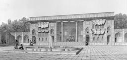 Palais de Golestan en 1840. Source : http://data.abuledu.org/URI/565209f2-palais-de-golestan-en-1840