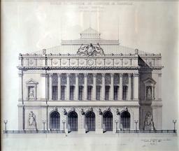 Palais de la Bourse de Marseille. Source : http://data.abuledu.org/URI/5651f675-palais-de-la-bourse-de-marseille-en-1840