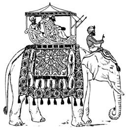 Palanquin d'éléphant. Source : http://data.abuledu.org/URI/521074f4-palanquin-d-elephant