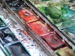 Palette d'aquarelle. Source : http://data.abuledu.org/URI/50b4a5b5-palette-d-aquarelle