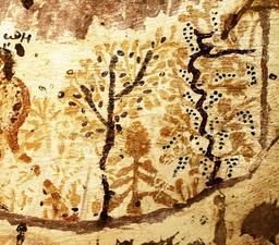 Palmeraie, fruitier et vigne dans l'oasis d'Al-Bagawat. Source : http://data.abuledu.org/URI/573dc06c-palmeraie-fruitier-et-vigne-dans-l-oasis-d-al-bagawat