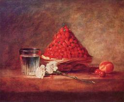 Panier de fraises vers 1760. Source : http://data.abuledu.org/URI/534bb353-panier-de-fraises-vers-1760