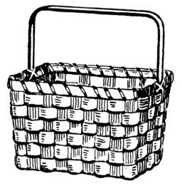 Panier en osier. Source : http://data.abuledu.org/URI/53b99cdc-panier-en-osier