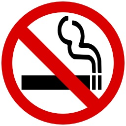 Panneau d'interdiction de fumer. Source : http://data.abuledu.org/URI/51377e35-panneau-d-interdiction-de-fumer