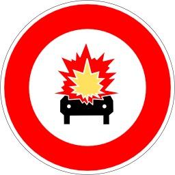 Panneau d'interdiction de matières inflammables. Source : http://data.abuledu.org/URI/513772f7-panneau-d-interdiction-de-matieres-inflammables