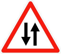 Panneau de circulation dans les deux sens. Source : http://data.abuledu.org/URI/509406fb-panneau-de-circulation-dans-les-deux-sens