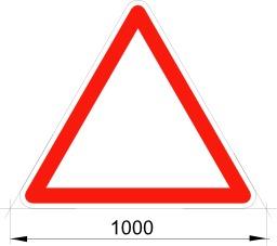 Panneau de danger vierge. Source : http://data.abuledu.org/URI/5092f7f7-panneau-de-danger-vierge