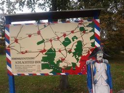 Panneau de la bataille de Iéna. Source : http://data.abuledu.org/URI/53a7f043-panneau-de-la-bataille-de-iena
