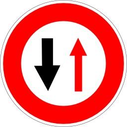 Panneau de perte de priorité. Source : http://data.abuledu.org/URI/5137743a-panneau-de-perte-de-priorite