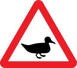 Panneau de risque d'oiseau sauvage. Source : http://data.abuledu.org/URI/51378e86-panneau-de-risque-d-oiseau-sauvage